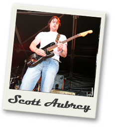 scott aubrey is the lead guitarest and singer
